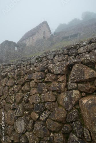 Spoed Foto op Canvas Zuid-Amerika land Machu Picchu walls
