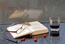Rain, Book And Wine