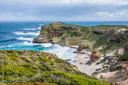 Fotografering  Atlantic and Indian ocean coast in South Africa with the Dias beach and Cape of Good Hope