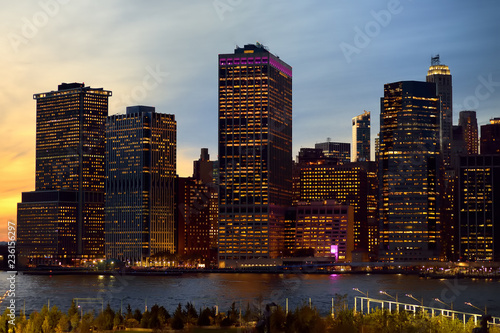 Keuken foto achterwand Verenigde Staten Amazing New York City Manhattan skyline panorama view over Hudson River