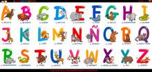 Spanish Alphabet With Cartoon ...