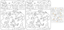 Find 10 Differences Icerink Puzzle For Kids