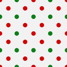 Red And Green Polka Dot Christ...
