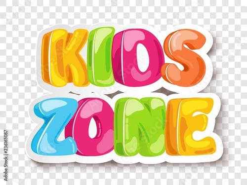 Tablou Canvas Kids Zone game banner design background