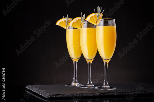 Refreshing mimosa cocktails