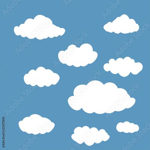 Foto op Aluminium Hemel clouds set isolated on blue sky background