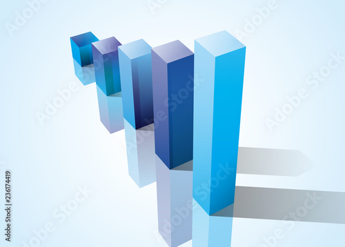 Fotografia, Obraz  グラフ 図形 立体的