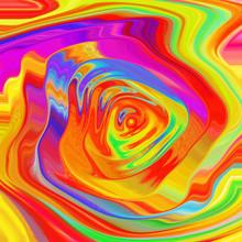 Colorful Fractal. Circles Wave