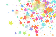 Star Falling Confetti Background.