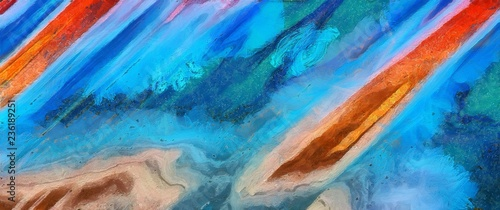 Stickers pour portes Eau Hand drawing in oil abstraction. Grunge texture background. Vintage design pattern. Creative wallpaper. Watercolor mixed art. Dry massive splashes of paint on canvas. Detailed close up brush strokes.