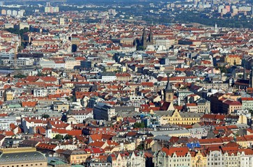 Fototapeta Prague is the capital of Czech Republic in Europe with many hous