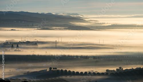 Fotografie, Obraz  Alvorecer com nevoeiro
