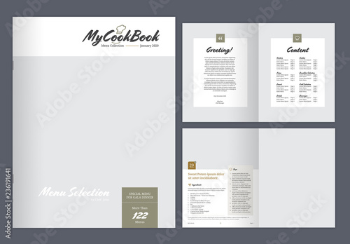 cookbook layout with earth tone accents buy this stock template and