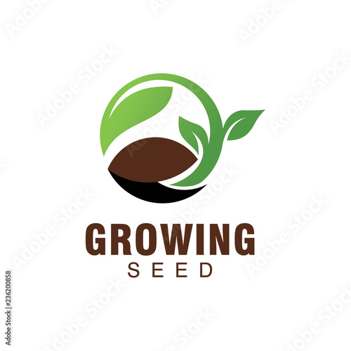 growing seed logo Fototapeta