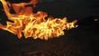 flame of gasoline burner.
