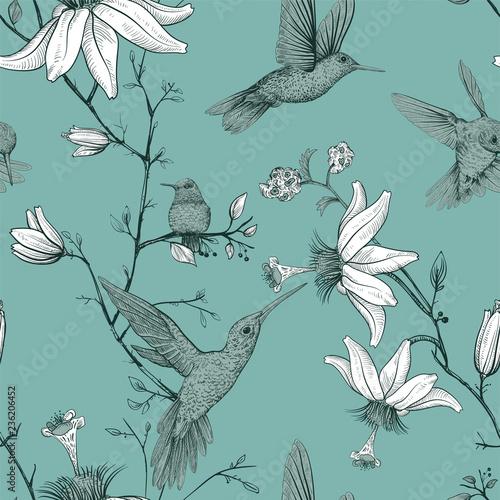 szkic-wektor-wzor-z-ptakow-i-kwiatow-monochromatyczny-kwiat-do-projektowania-stron-internetowych-papier-pakowy-okladka-telefonu-tkanina-tkanina-pocztowka