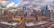 Chicago Panorama On A Cloudy W...