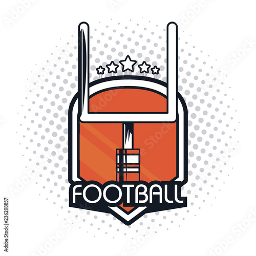 Fotografia, Obraz  football goalpost icon