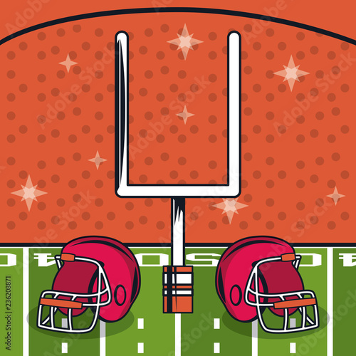 Vászonkép football helmet icon