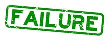 Grunge Green Failure Word Squa...