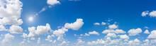 Blue Sky Natural Background.