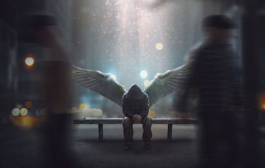Angel left ignored