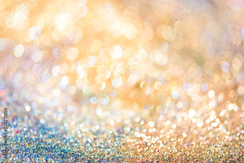 Fotografía  glitter gold bokeh Colorfull Blurred abstract background for birthday, anniversa