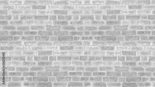 Garden Poster Brick wall Abstract weathered texture stained old stucco light gray and aged paint white brick wall background in rural room, grungy rusty blocks of stonework technology color horizontal architecture wallpaper