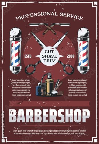 slup-fryzjerski-nozyczki-grzebien-brzytwa-plakat-w-stylu-vintage