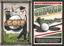 Sport Golf Club Poster With Pl...