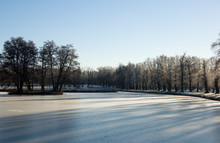 Park View At The Island Drottningholm At First Winterday In Stockholm