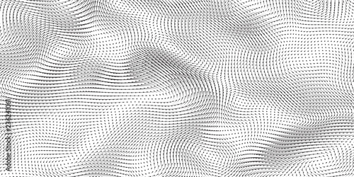 Vector monochrome field visualization of forces Canvas Print