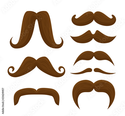 set male mustaches style to movember event Canvas Print