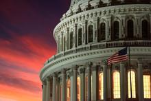 Illuminated Dc Capitol At Nigh...