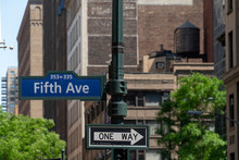 Fifth Avenue Sign New York City