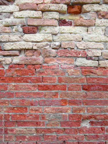 Foto op Aluminium Wand old red brick wall background