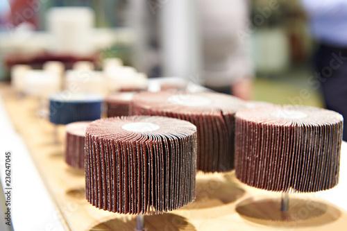 Foto Disc of sandpaper closeup