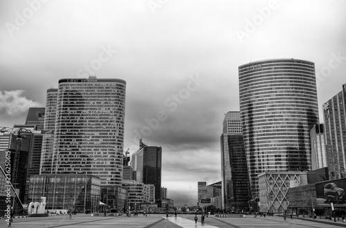 In de dag Stad gebouw PARIS, FRANCE, SEPTEMBER 7, 2018 - View of La Defense buildings, a major business district of the city, Paris, France