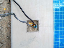 Installation Of Electrical Wiring Of The Swimming Pool.