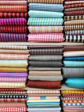 Thailand Silk On Shelf For Clothing