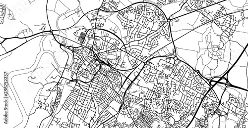 Valokuva  Urban vector city map of Gloucester, England