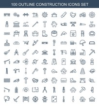 Construction Icons. Set Of 100...
