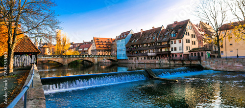 Nurnberg ild town in autumn colors. Landmarks of Germany series