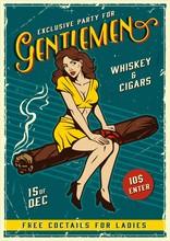 Vintage Gentlemen Party Poster