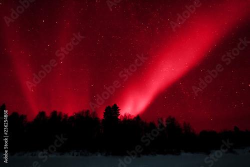 Aurora boreale Lapponia Tapéta, Fotótapéta