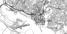 Urban Vector City Map Of Southampton, England