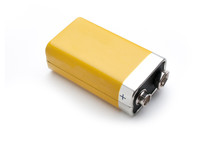 Blank 9v Battery Isolated On W...