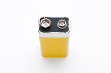 Blank 9v Battery Isolated Top ...