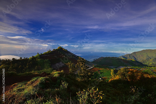 The Mountain panorama from sekunir Village Wonderful indonesia