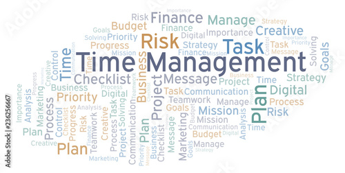 Time Management word cloud, made with text only  - Buy this stock